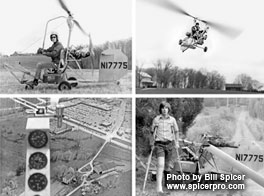 Bill Spicer Flies and Crashes Gyrocopter