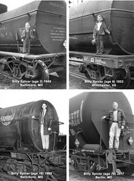 Billy Spicer Tank Car Montage 1948-2017